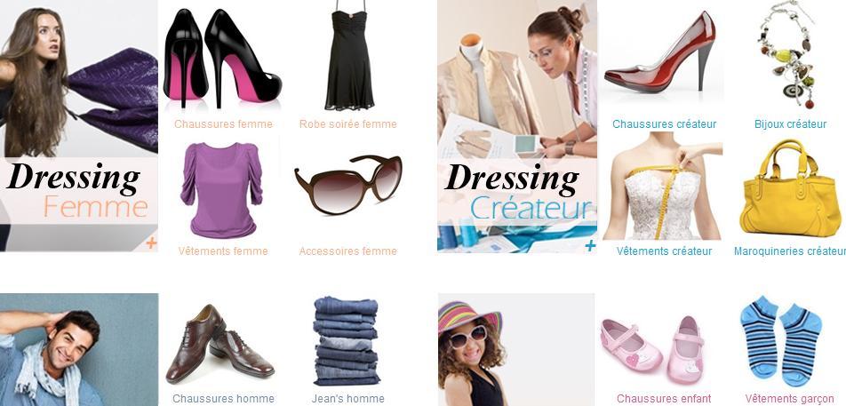 Dressing en ligne