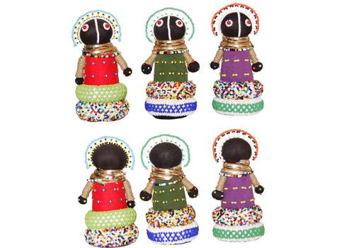 Mopani Crafts – Poupées de fertilité Ndebele brodées